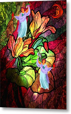 Metal Print featuring the digital art Magic Garden by Mary Anne Ritchie