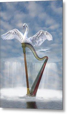 Magic Harp  Metal Print by Angel Jesus De la Fuente