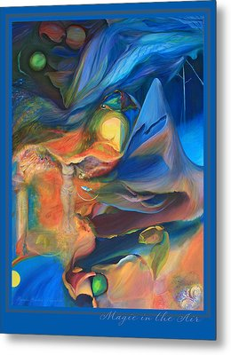 Metal Print featuring the painting Magic In The Air - With Border And Title by Brooks Garten Hauschild