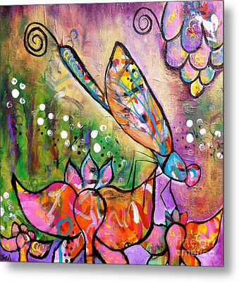 Magic In The Garden Metal Print