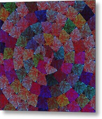 Magic Marbles Marvellous Colorful Pattern Spiral Sparkle Wonderland Kidsroom School Nursary Daycare  Metal Print