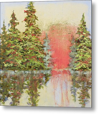 Metal Print featuring the painting Magic Moment by Vic  Mastis