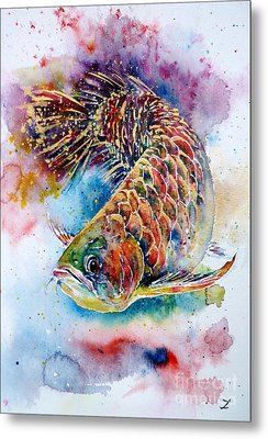 Magic Of Arowana Metal Print by Zaira Dzhaubaeva