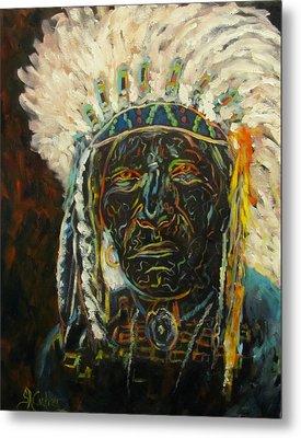Magic Powers,  Native American Indian Chief Metal Print