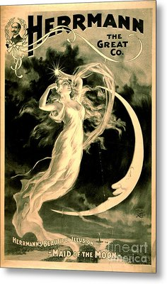 Magic Show Playbill 1898 Metal Print by Padre Art