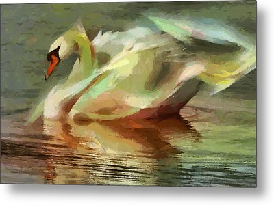 Magic Swan Metal Print