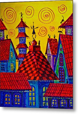 Magic Town 4 Metal Print