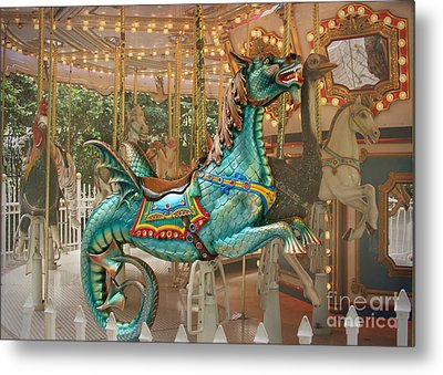 Magical Carousel Metal Print