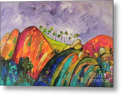 Magical Mountains Metal Print by Lyn Olsen
