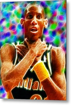 Magical Reggie Miller Choke Metal Print by Paul Van Scott