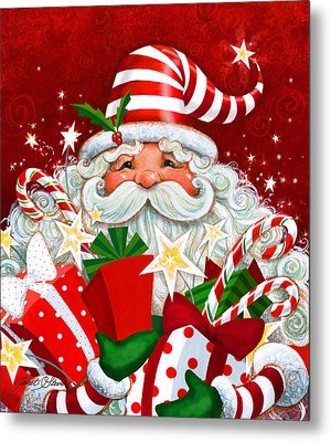 Magical Santa Metal Print
