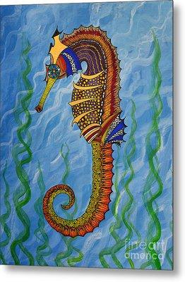 Magical Seahorse Metal Print by Suzette Kallen