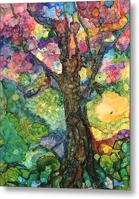 Magical Tree Metal Print by Lin Deahl