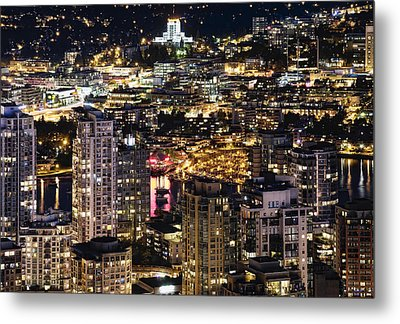Metal Print featuring the photograph Magical Yaletown Harbor Mdxlix by Amyn Nasser