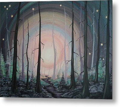 Magicle Forest Metal Print