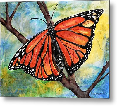 Magnificant Monarch Metal Print