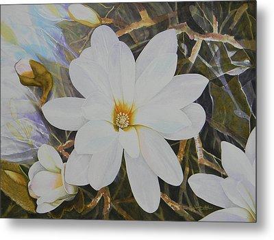 Magnolia Blossom Metal Print by Adel Nemeth