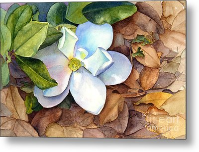 Metal Print featuring the painting Magnolia by Bonnie Rinier