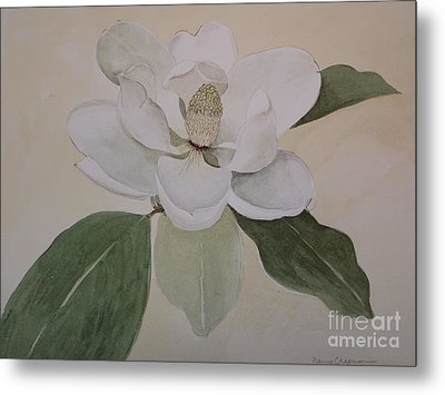 Metal Print featuring the painting Magnolia Delight by Nancy Kane Chapman