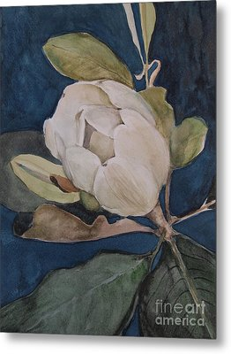 Metal Print featuring the painting Magnolia Evening by Nancy Kane Chapman