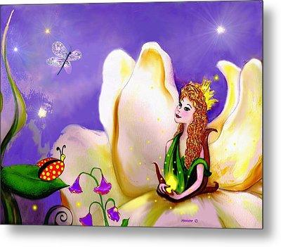 Magnolia Fairy Princess Metal Print