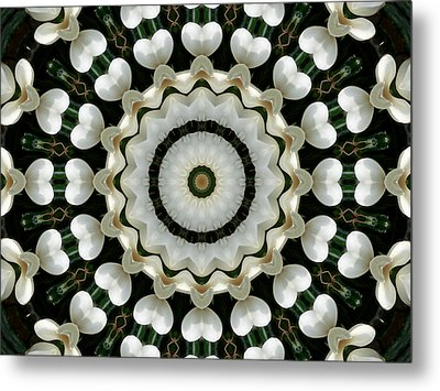 Metal Print featuring the photograph Magnolia Hearts Mandala by MM Anderson
