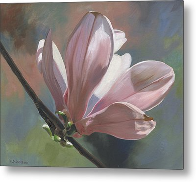 Metal Print featuring the painting Magnolia Petals by Alecia Underhill
