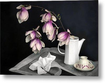 Magnolia Still Metal Print by Diana Angstadt