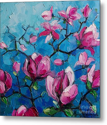 Magnolias For Ever Metal Print by Mona Edulesco