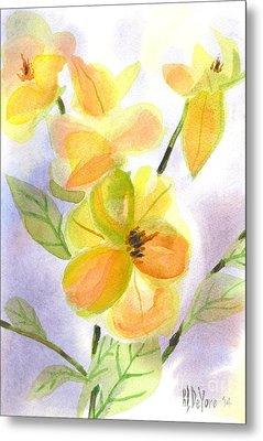 Metal Print featuring the painting Magnolias Gentle by Kip DeVore