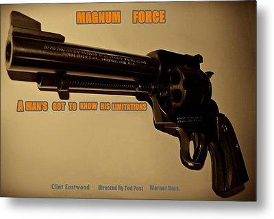 Magnum Force Custom Metal Print by Movie Poster Prints