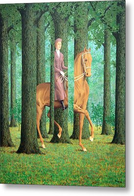 Magritte's The Blank Signature Metal Print by Cora Wandel