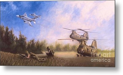 Metal Print featuring the painting Magtf Vietnam by Stephen Roberson