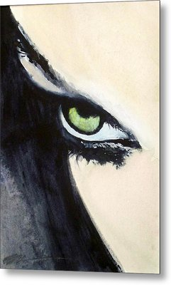 Metal Print featuring the painting Magyar Eyes by Ed  Heaton
