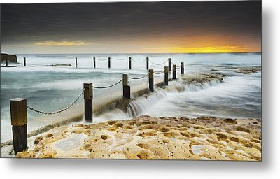 Mahon Pool Australia Metal Print by Mike Banks