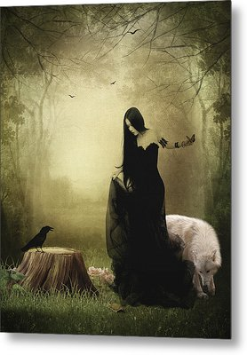 Maiden Of The Forest Metal Print by Sharon Lisa Clarke