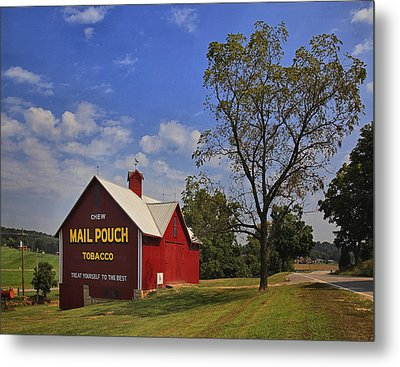 Mail Pouch Barn Metal Print by Wendell Thompson