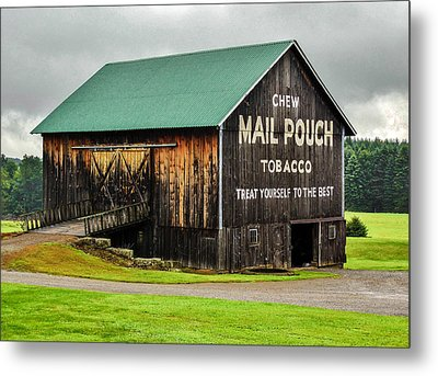 Mail Pouch Tobacco Barn Metal Print by Anthony Thomas