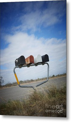 Metal Print featuring the photograph Mailboxes by Erika Weber