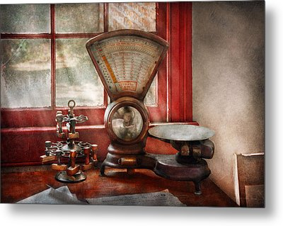 Mailman - The Mail Scale  Metal Print by Mike Savad