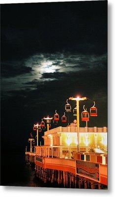 Main St Pier Sky Lift Metal Print by Paulette Maffucci