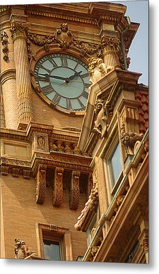 Main St Station Clock Tower Richmond Va Metal Print