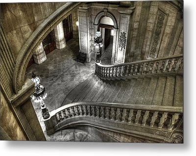 Main Staircase From Above Metal Print