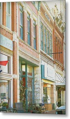 Main Street America Street Scene Photograph Metal Print