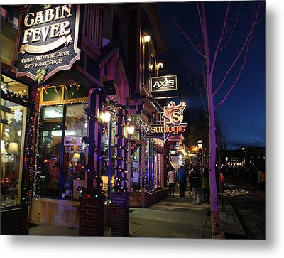 Main Street Breckenridge Colorado Metal Print