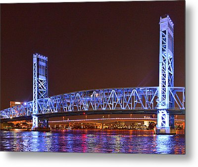 Main Street Bridge Jacksonville Metal Print by Christine Till