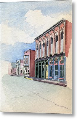 Metal Print featuring the painting Main Street In Gosport by Katherine Miller