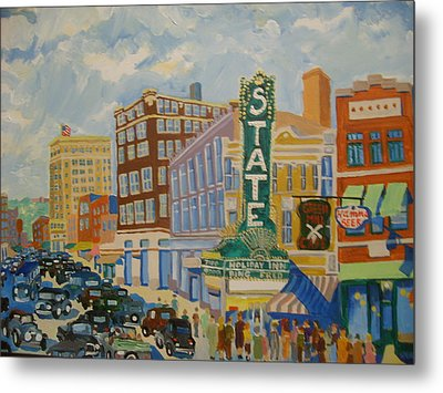 Main Street Metal Print by Rodger Ellingson