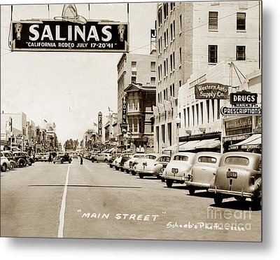 Main Street Salinas California 1941 Metal Print