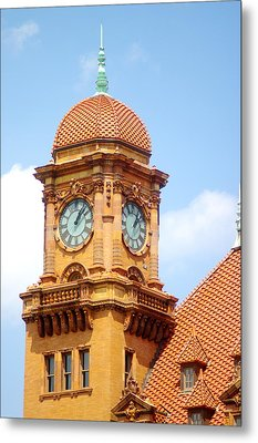 Metal Print featuring the photograph Main Street Station Clock Tower Richmond Va by Suzanne Powers